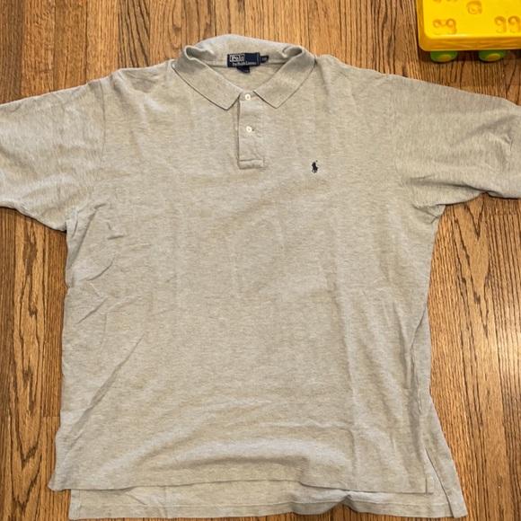 Men's Polo gray shirt sleeve polo shirt